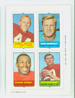 1969 Topps Football 4-1s Wilson|Bramlett|Beathard|Little Near-Mint