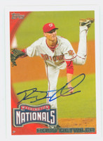 Ross Detwiler AUTOGRAPH 2010 Topps Nationals 