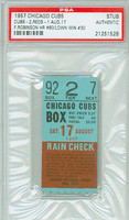 1957 Chicago Cubs Ticket Stub vs Cincinnati Reds Frank Robinson Career HR #60 - August 17, 1957 [EX]