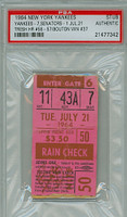 1964 New York Yankees Ticket Stub vs Washington Senators Tom Tresh 2 HRs - Career HR #56 - #57 Jim Bouton Career Win #37  - July 21, 1964