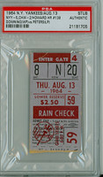 1964 New York Yankees Ticket Stub vs Chicago White Sox Elston Howard Career HR #138 WP Al Downing  - August 13, 1964