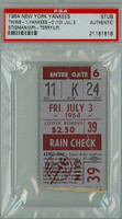 1964 New York Yankees Ticket Stub vs Minnesota Twins WP Dick Stigman LP Ralph Terry  - July 3, 1964