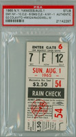 1965 New York Yankees Ticket Stub vs Cleveland Indians Rocky Colavito Career HR #324 WP Sam McDowell   - August 1, 1965