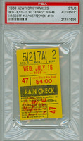 1969 New York Yankees Ticket Stub vs Boston Red Sox Carl Yastrzemski Career HR #190 George Scott Career HR #59  Mike Nagy Career Win #6 - July 16, 1969