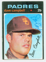 Dave Campbell AUTOGRAPH 1971 Topps #46 Padres 