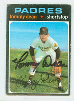 Tommy Dean AUTOGRAPH 1971 Topps #364 Padres 