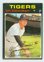 Tom Timmermann AUTOGRAPH 1971 Topps #296 Tigers 