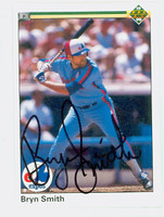 Bryn Smith AUTOGRAPH 1990 Upper Deck Expos 