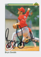 Bryn Smith AUTOGRAPH 1990 Upper Deck Traded Cardinals 