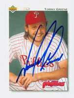 Tommy Greene AUTOGRAPH 1992 Upper Deck Phillies 