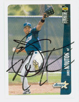 James Mouton AUTOGRAPH 1996 Upper Deck Astros 