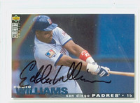 Eddie Williams AUTOGRAPH 1995 Upper Deck Padres 