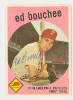 Ed Bouchee AUTOGRAPH d.13 1959 Topps #39 Phillies CARD IS F/G; CORNER WEAR