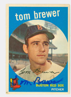 Tom Brewer AUTOGRAPH d.18 1959 Topps #55 Red Sox CARD IS VG