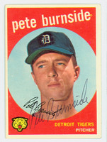 Pete Burnside AUTOGRAPH 1959 Topps #354 Tigers CARD IS G/VG; CRN DING