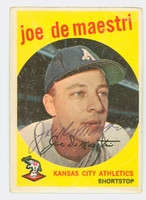 Joe DeMaestri AUTOGRAPH d.16 1959 Topps #64 Athletics CARD IS F/G; CREASES