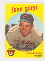 John Goryl AUTOGRAPH 1959 Topps #77 Cubs CARD IS CLEAN VG/EX