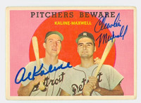 Al Kaline DUAL SIGNED 1959 Topps Pitchers Beware #34 Tigers CARD IS G/VG