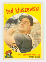 Ted Kluszewski AUTOGRAPH d.88 1959 Topps #35 Pirates CARD IS CLEAN VG/EX