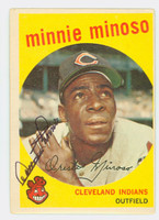 Minnie Minoso AUTOGRAPH d.15 1959 Topps #80 Indians CARD IS CLEAN VG/EX