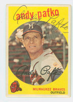 Andy Pafko AUTOGRAPH d.13 1959 Topps #27 Braves CARD IS CLEAN VG/EX