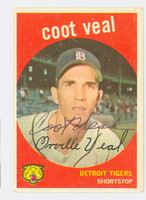 Coot Veal AUTOGRAPH 1959 Topps #52 Tigers CARD IS CLEAN VG/EX