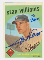 Stan Williams AUTOGRAPH 1959 Topps #53 Dodgers  PERS; OW SHARP EX