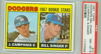 1967 Topps Baseball 12 Dodgers Rookies