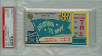 1937 Navy Midshipmen Ticket Stub vs Columbia Lions  - November 6, 1937 PSA/DNA Authentic