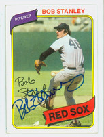 Bob Stanley AUTOGRAPH 1980 Topps #63 Red Sox 