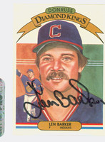 Len Barker AUTOGRAPH 1982 Donruss Diamond King #6 Indians 