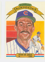 Ivan DeJesus AUTOGRAPH 1982 Donruss Diamond King #14 Cubs 