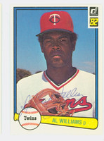 Al Williams AUTOGRAPH 1982 Donruss #429 Twins 