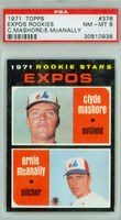 1971 Topps Baseball 376 Expos Rookies
