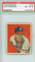 1949 Bowman Baseball 14 Curt Simmons Philadelphia Phillies PSA 8 Near Mint to Mint