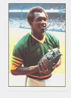Vida Blue AUTOGRAPH 1975 SSPC Athletics 
