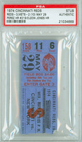1974 Cincinnati Reds Ticket Stub vs New York Mets Tony Perez Career HR #219 Cleon Jones HR  - May 29, 1974 PSA/DNA Authentic