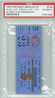 1974 Cincinnati Reds Ticket Stub vs Atlanta Braves Tony Perez Career HR #222 Reds Doubleheader Sweep  - June 23, 1974 PSA/DNA Authentic