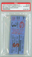 1974 Cincinnati Reds Ticket Stub vs Los Angeles Dodgers Tony Perez Career HR #224 - July 3, 1974 PSA/DNA Authentic