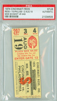 1974 Cincinnati Reds Ticket Stub vs Philadelphia Phillies Mike Schmidt Career HR #49 Joe Morgan 2 HRS - #119-#120  - August 19, 1974 [Y74_Reds0819S_pa_4] PSA/DNA Authentic