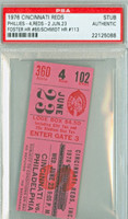 1976 Cincinnati Reds Ticket Stub vs Philadelphia Phillies Mike Schmidt Career HR #113 George Foster Career HR #66  - June 23, 1976 [Y76_Reds0623S_pa_102] PSA/DNA Authentic
