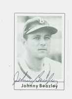 Johnny Beazley AUTOGRAPH d.90 1978 Grand Slam Red Sox 