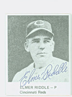 Elmer Riddle AUTOGRAPH d.84 1976 Philly Card Show Reds 