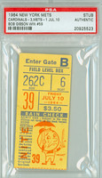 1964 New York Mets Ticket Stub vs St. Louis Cardinals Bob Gibson Career Win #59 - July 10, 1964 PSA/DNA Authentic