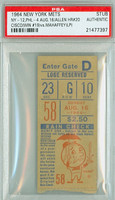 1964 New York Mets Ticket Stub vs Philadelphia Phillies Richie Allen Career HR #20 Galen Cisco Win #19  - August 16, 1964 PSA/DNA Authentic
