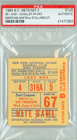 1964 New York Mets Ticket Stub vs San Francisco Giants Juan Marichal Career Win #78 Tom Haller HR #43  - September 2, 1964 PSA/DNA Authentic