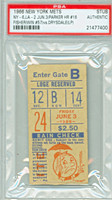 1966 New York Mets Ticket Stub vs Los Angeles Dodgers Wes Parker Career HR #16 - June 3, 1966 [Y66_Mets0603S_pa_00] PSA/DNA Authentic