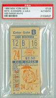 1966 New York Mets Ticket Stub vs Los Angeles Dodgers Wes Parker Career HR #16 - June 3, 1966 [Y66_Mets0603S_pa_27] PSA/DNA Authentic