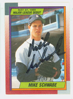 Mike Schwabe AUTOGRAPH 1990 Topps Tigers Major League Debut 