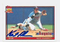 Kent Anderson AUTOGRAPH 1991 Topps Angels 